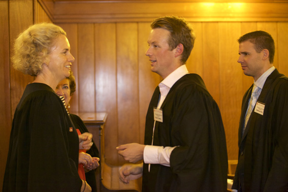 Council member, Liz Hannan at the Postgraduate Commencement Dinner