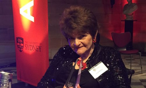 Joan Hume Honoured at University of Sydney Alumni Awards