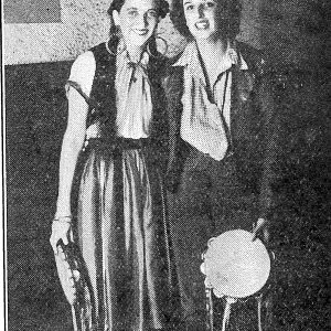 Lisette Nicolas and Alison Stephen from 1939 College magazine