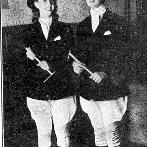 Marie Leahy and Maureen O'Neill from 1939 College magazine