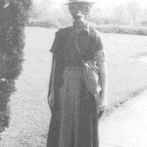 Sancta's first air-raid warden Patricia Anscombe c1940