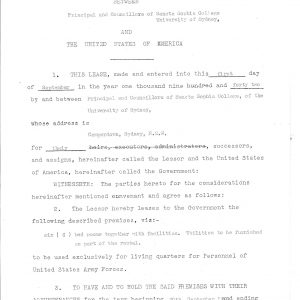Contract between the College and United States of America Sep 1942