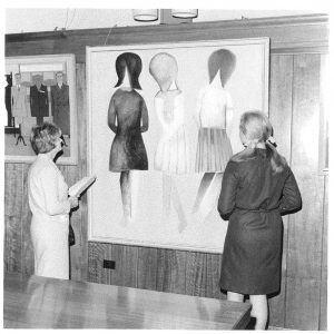 Artwork exhibited in The Broad Canvas art exhibition Aug 1967