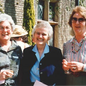 1991 - Sr Shanahan's farewell - Trish Horsley, Mary Shanahan, Mary Burns (Horsley)