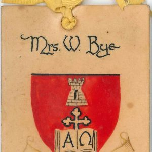 Ladies Committee badge - Mrs W Bye