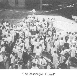 The champagne flowed - 1986 College magazine