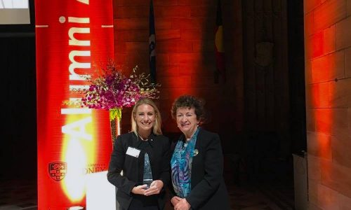 Annabelle takes top Alumni Award