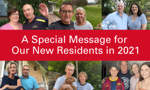 A Special Message for Our New Residents